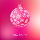 De bal van Kerstmis van sneeuwvlokken. + EPS8 Royalty-vrije Stock Foto