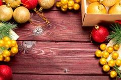 De bal van nieuwjaarkerstmis Stock Fotografie