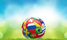 De bal van de voetbalvoetbal het 3d teruggeven Stock Afbeeldingen