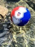 De bal 2018 voetbal van Kroatië stock afbeeldingen