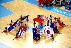 De balArena van de Mand van Peking Olympische die in gebruik wordt genomen Royalty-vrije Stock Foto