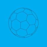 De balblauwdruk van het voetbal. Stock Illustratie