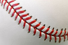 De baldetail van het honkbal Stock Foto