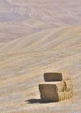 De balen van het stro op rollende heuvels royalty-vrije stock foto's