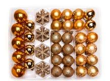 De balinzameling van Kerstmis Stock Fotografie