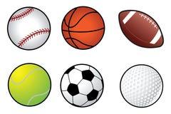 De balinzameling van sporten Stock Afbeelding