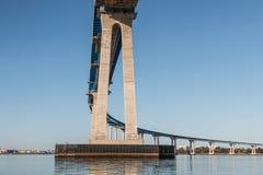 De balken onder de Coronado-Baaibrug bouwden 1969 in royalty-vrije stock afbeeldingen