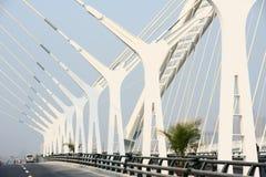 De balken van de brug stock foto's