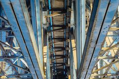 De balken van de staalbrug royalty-vrije stock foto