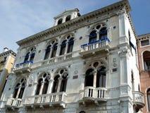 De balkons van Elegand van Venetië Stock Foto's
