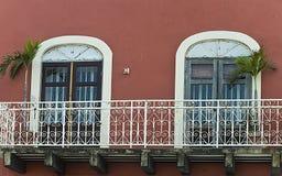 De balkons van San Juan, Oud San Juan, Puerto Rico Royalty-vrije Stock Afbeeldingen