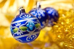 De ballen.embellishment cristmas van Kerstmis stock foto's