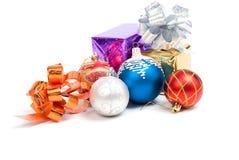 De ballen.embellishment cristmas van Kerstmis. stock afbeeldingen