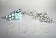 De ballen en 2010 van Kerstmis Royalty-vrije Stock Afbeelding