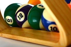 De Ballen en de Driehoek van de pool Royalty-vrije Stock Foto