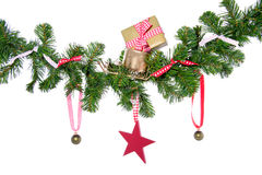 De ballen en de giften van Kerstmis Stock Fotografie