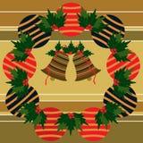 De ballen en de klokken van Kerstmis Royalty-vrije Stock Afbeelding