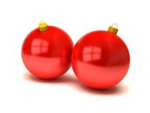 De ballen en de ornamenten van Kerstmis Stock Foto's
