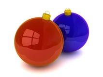 De ballen en de ornamenten van Kerstmis Royalty-vrije Stock Foto's