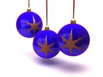 De ballen en de ornamenten van Kerstmis Royalty-vrije Stock Afbeeldingen