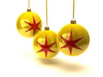De ballen en de ornamenten van Kerstmis Stock Afbeeldingen