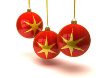 De ballen en de ornamenten van Kerstmis Royalty-vrije Stock Foto