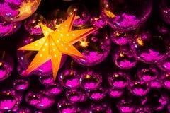 De ballen en de ster van de nachtclubdisco stock foto's