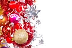 De ballen en het klatergoud van Kerstmis Royalty-vrije Stock Afbeeldingen