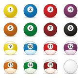 De ballen van Billard Royalty-vrije Stock Fotografie