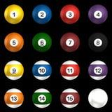 De ballen van Billard pakken het 3d teruggeven in Royalty-vrije Stock Foto's