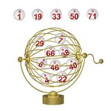 De Ballen van Bingo in Gouden Kooi vector illustratie