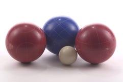 De Ballen van Bocce Stock Afbeeldingen