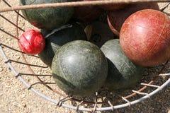 De ballen van Bocce Stock Foto