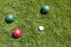 De ballen van Bocce Stock Foto's