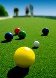 De ballen van Bocce. Royalty-vrije Stock Fotografie