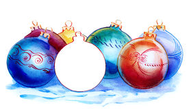 De ballen van Christmass stock illustratie