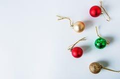 De ballen van Christmass Stock Afbeelding