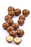 De ballen van de chocolade Stock Afbeelding
