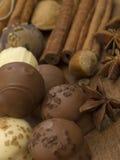 De ballen van de chocolade Royalty-vrije Stock Afbeelding