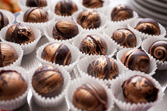 De ballen van de chocolade Royalty-vrije Stock Afbeeldingen