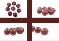 De ballen van de chocolade Stock Afbeeldingen