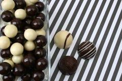 De Ballen van de chocolade Stock Fotografie