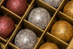 De ballen van de chocoladekleur Stock Foto