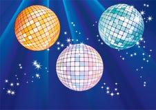 De ballen van de disco. Royalty-vrije Stock Afbeeldingen