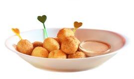 De ballen van de kaas Stock Foto