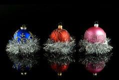 De ballen van de kerstboom Stock Foto's