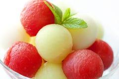 De ballen van de meloen stock afbeelding