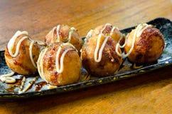 De Ballen van de Octopus van Takoyaki stock foto's