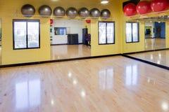 De ballen van de oefening in gymnastiek Royalty-vrije Stock Fotografie