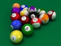 De ballen van de pool royalty-vrije stock foto